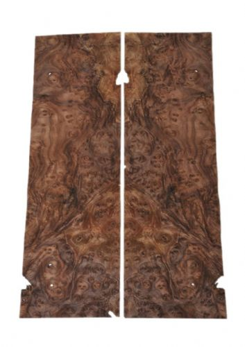 "Walnut burr veneer - set of 2 leafs: 30"" x 9.5"" ( 76 cm x 24 cm )"
